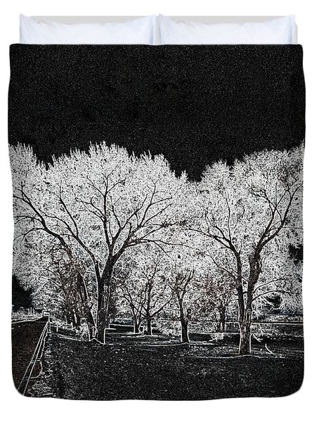 Cottonwood Frost Duvet Cover by Aliceann Carlton
