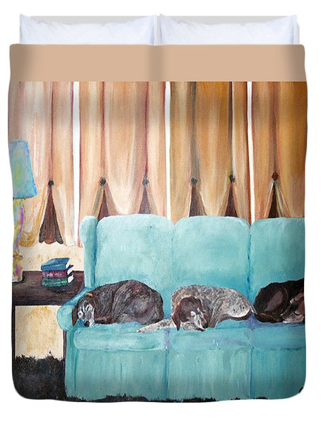 Couch Potatoes Duvet Cover by Gail Daley