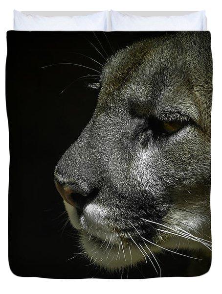 Cougar Duvet Cover by Ernie Echols