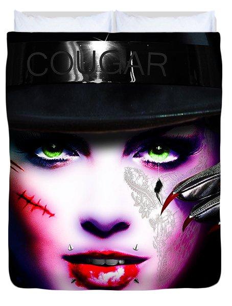 Cougar Rainbow Duvet Cover