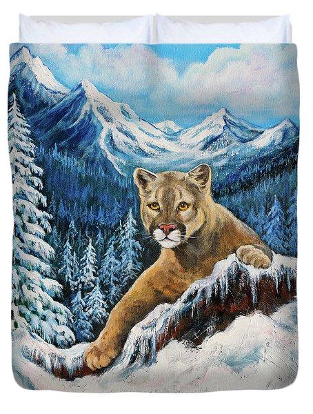 Cougar Sedona Red Rocks  Duvet Cover