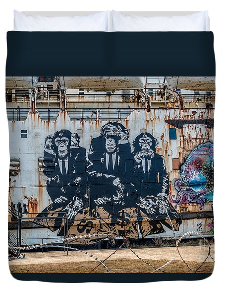 Council Of Monkeys 2 Duvet Cover