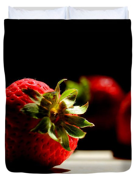 Countertop Strawberries Duvet Cover by Michael Eingle