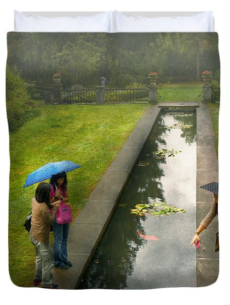 Country - A Day Out With The Girls Duvet Cover by Mike Savad