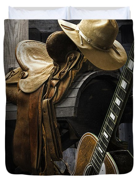 Country And Western Music Duvet Cover