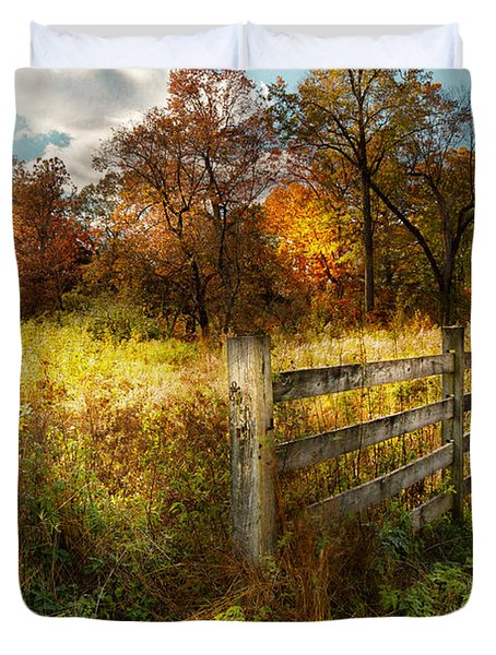 Country - Autumn Years  Duvet Cover by Mike Savad