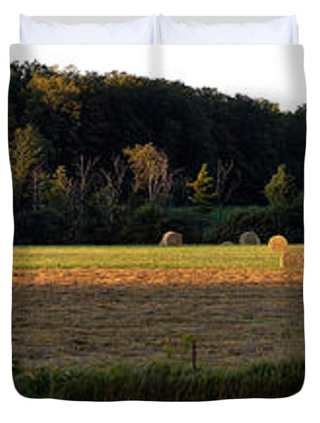Country Bales  Duvet Cover