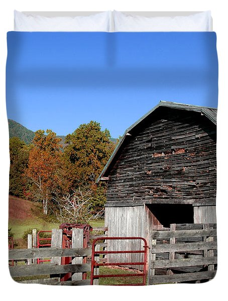 Country Barn Duvet Cover by Jeff McJunkin
