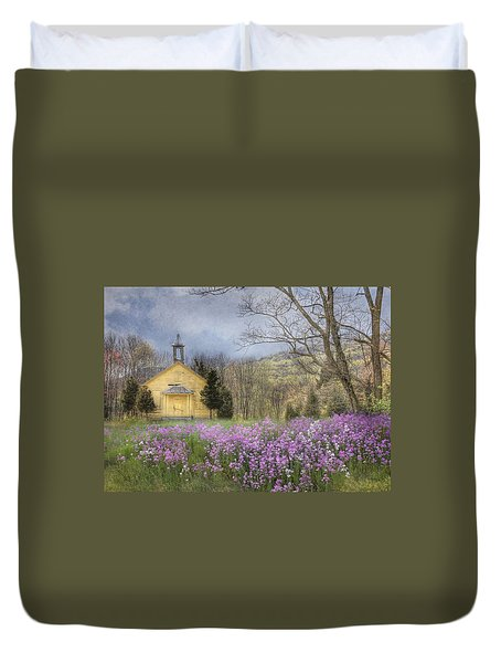 Country Charm School Duvet Cover by Lori Deiter