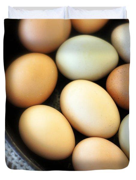 Country Egg Skillet Duvet Cover