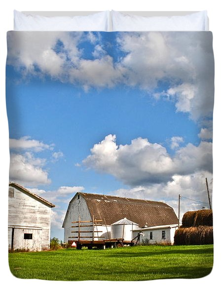 Country Farm Duvet Cover by Frozen in Time Fine Art Photography