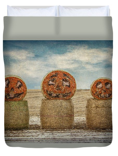 Country Halloween Duvet Cover by Patti Deters