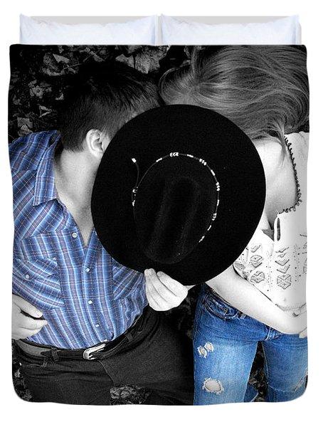 Country Kissin Duvet Cover