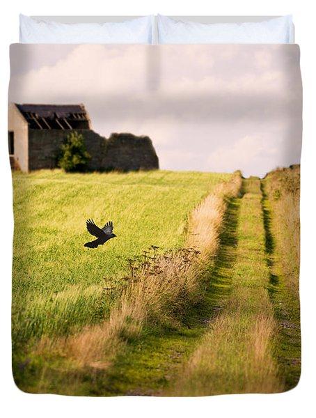 Country Lane Duvet Cover by Amanda Elwell