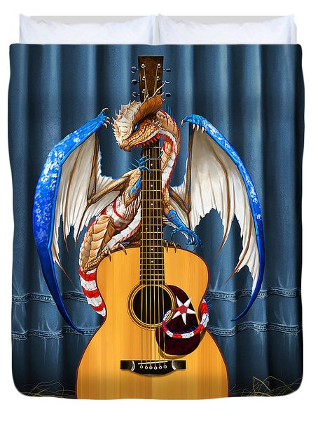 Country Music Dragon Duvet Cover