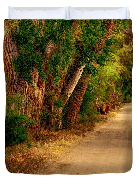 Country Road Duvet Cover by Fred Larson
