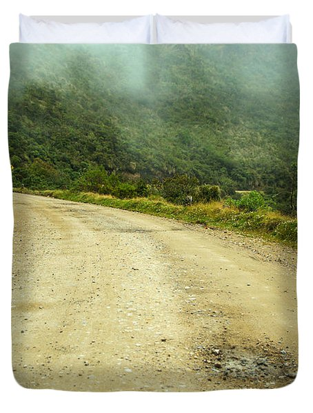 Country Road In Colombia Duvet Cover by Jess Kraft