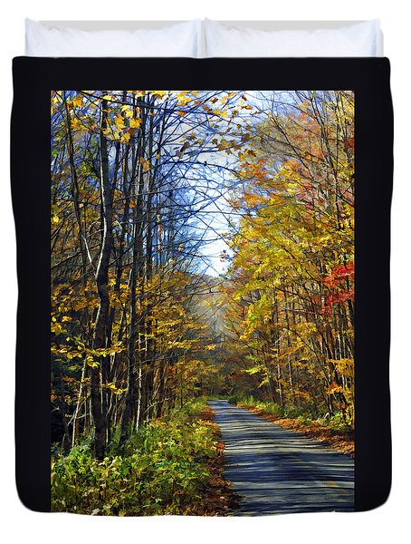 Duvet Cover featuring the photograph Country Road by Kenny Francis