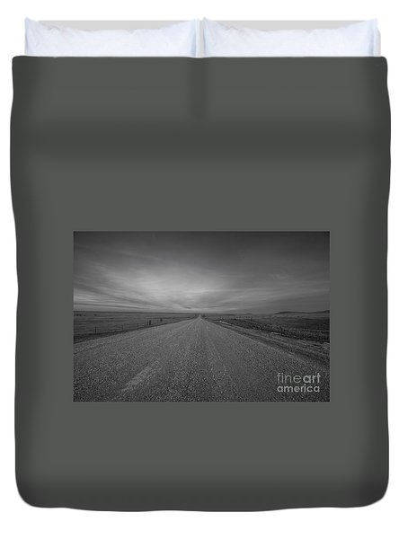 A Country Road Of South Dakota Duvet Cover
