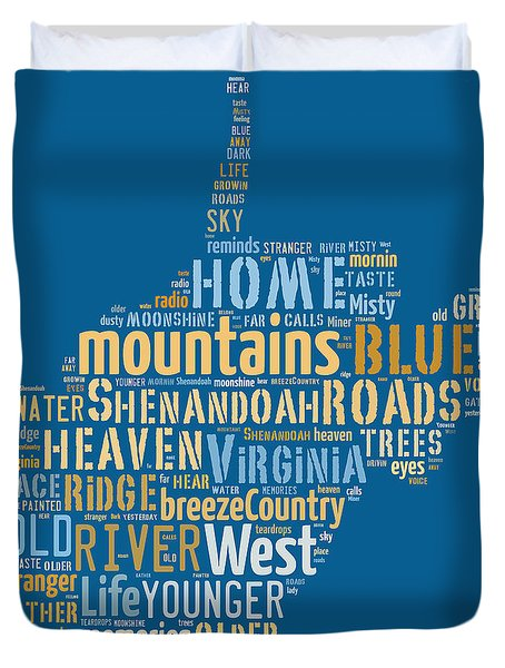 Country Roads 3 Duvet Cover
