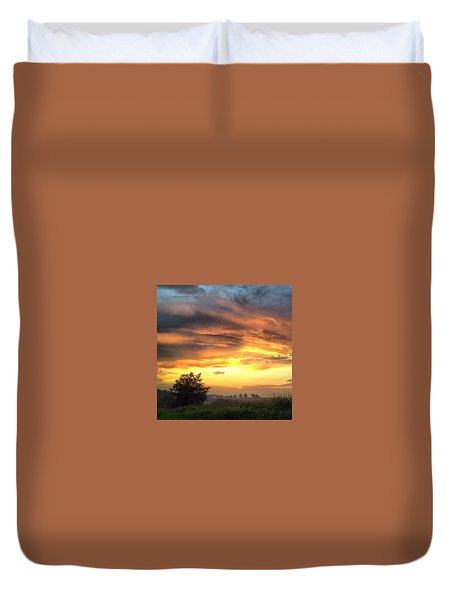 Country Scene From Hilltop To Hilltop Duvet Cover