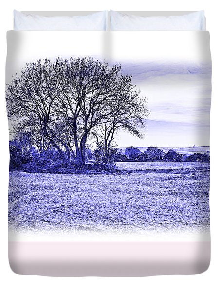 Duvet Cover featuring the photograph Country Scene by Jane McIlroy