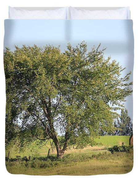 Duvet Cover featuring the photograph Country Scene by Penny Meyers