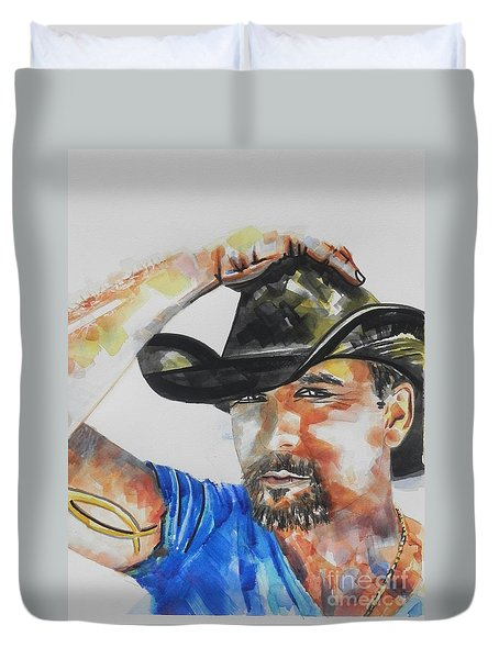 Country Singer Tim Mcgraw 02 Duvet Cover