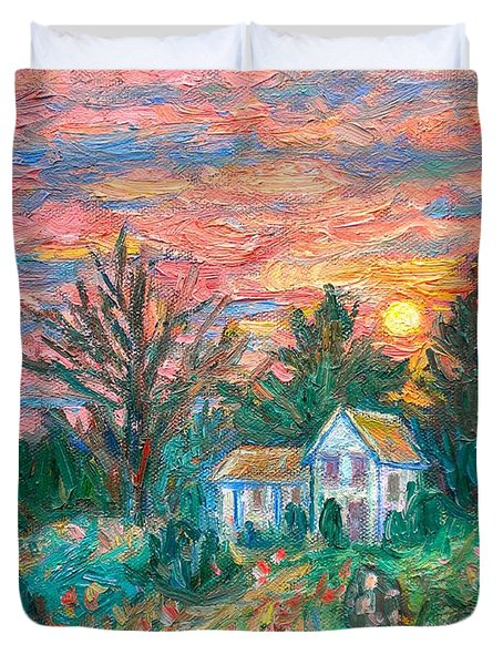 Country Sunset Duvet Cover by Kendall Kessler