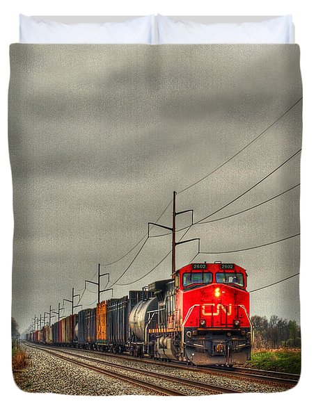 Country Train 1 Duvet Cover
