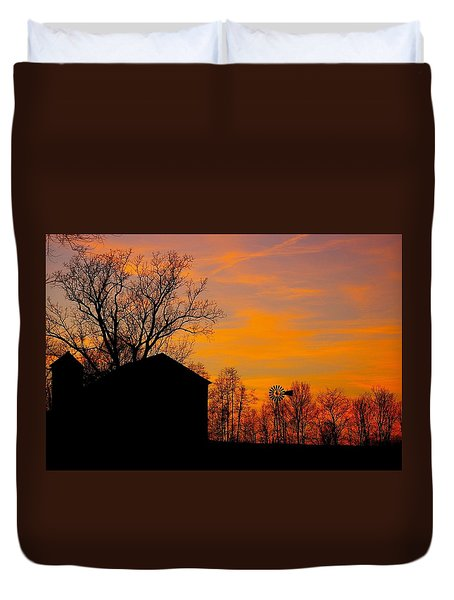 Duvet Cover featuring the photograph Country View by Randy Pollard