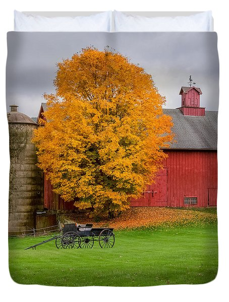 Country Wagon Square Duvet Cover by Bill Wakeley