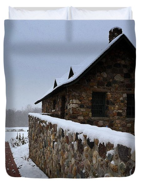 Country Winter Landscape  Duvet Cover