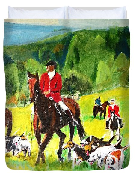 Countryside Hunt Duvet Cover by Judy Kay