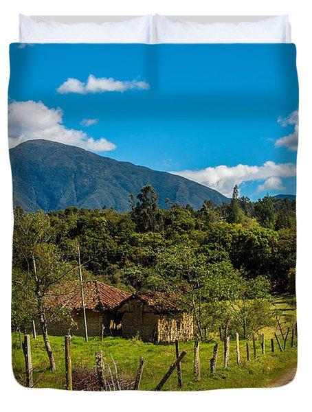 Countryside In Boyaca Colombia Duvet Cover by Jess Kraft