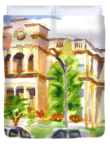 County Courthouse II Duvet Cover