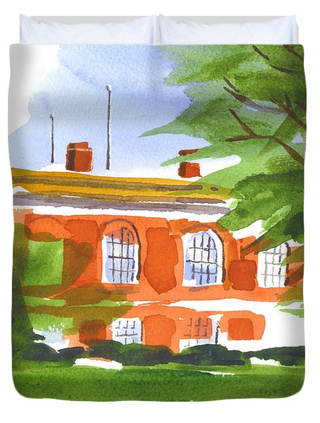 Courthouse On A Summers Evening Duvet Cover