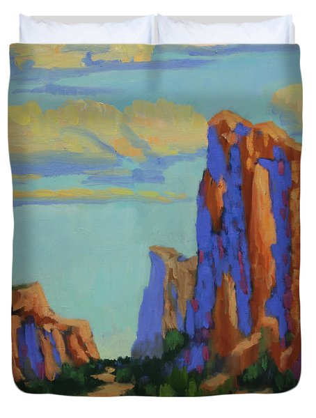 Courthouse Rock In Sedona Duvet Cover