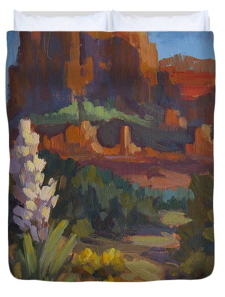 Courthouse Rock Sedona Duvet Cover by Diane McClary