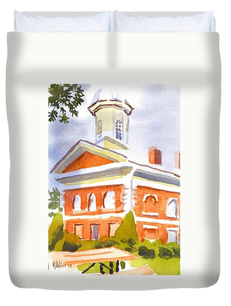 Courthouse With Picnic Table Duvet Cover by Kip DeVore