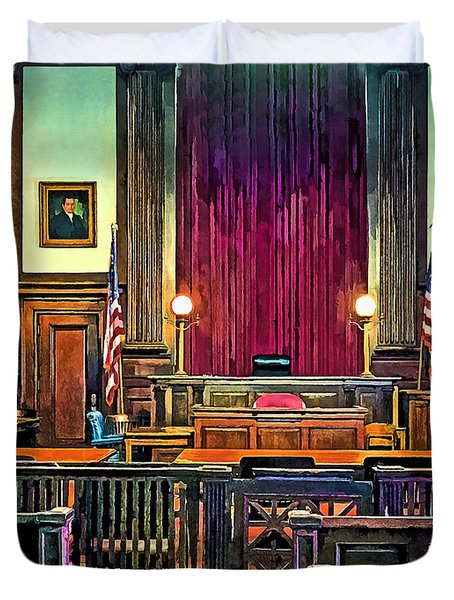 Courtroom Duvet Cover