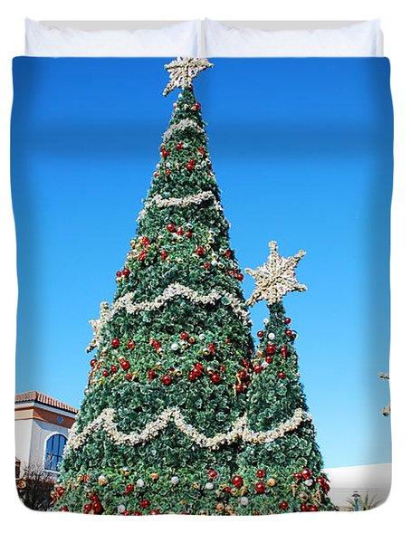 Courtyard Christmas Duvet Cover