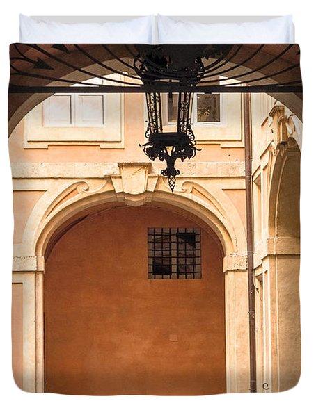 Courtyard Of Siena Duvet Cover