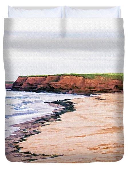Cousins Shore Prince Edward Island Duvet Cover by Edward Fielding