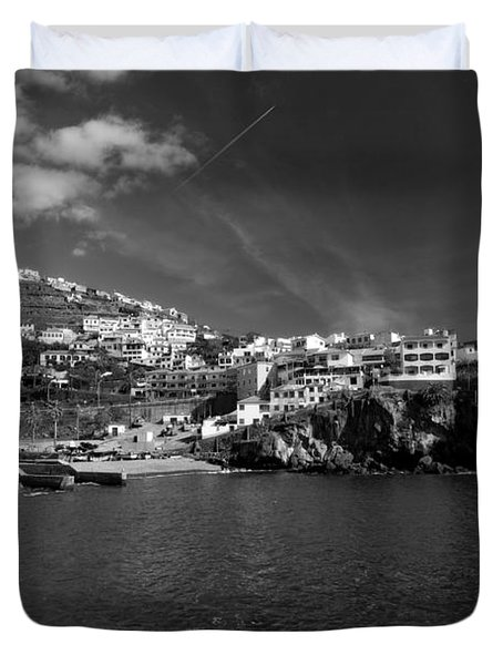 Cove In Black And White Duvet Cover