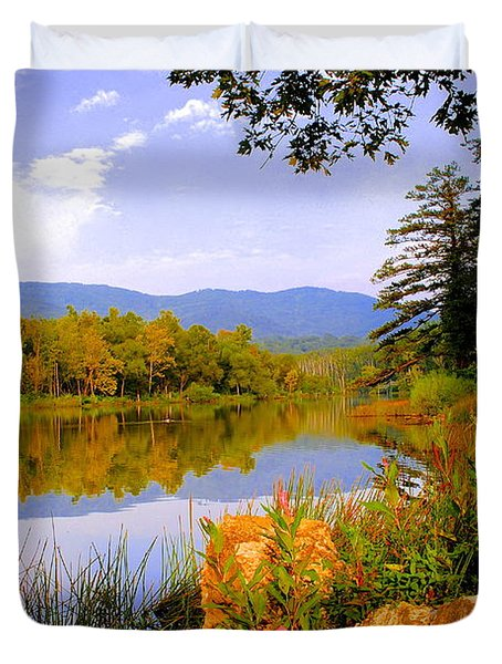 Cove Lake State Park  Duvet Cover by Frozen in Time Fine Art Photography