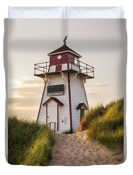 Covehead Harbour Lighthouse Duvet Cover