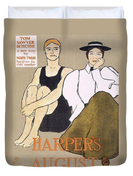 Cover Of Harpers Magazine, 1896 Duvet Cover