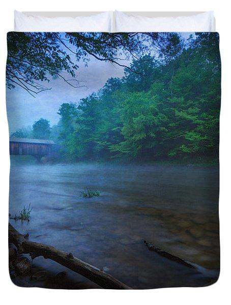 Covered Bridge  Duvet Cover by Everet Regal