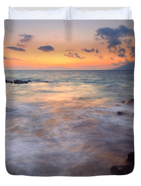 Covered By The Sea Duvet Cover
